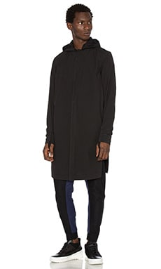 11 by Boris Bidjan Saberi Graphic Jacket in Black Dye