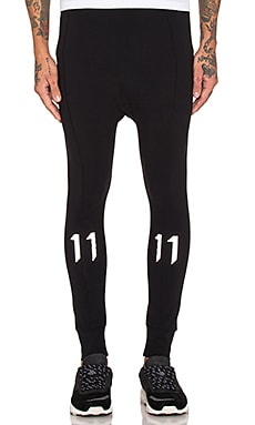 11 by Boris Bidjan Saberi Reflective Sweatpants in Black