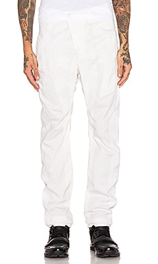 11 by Boris Bidjan Saberi Piece Dyed Pant in White Snow