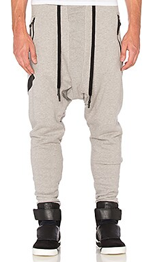 11 by Boris Bidjan Saberi Printed Sweatpants in Heather Grey