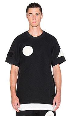 11 by Boris Bidjan Saberi Felted Wool Patches Tee in Black