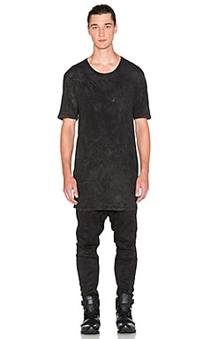 11 by Boris Bidjan Saberi Tee in Black Snow