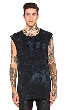 11 by Boris Bidjan Saberi Tie Dye 11 Tee in Black & Navy