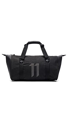 11 by Boris Bidjan Saberi Travel Zip Bag in Black High Visibility