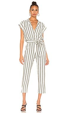 Button Front Regancy Stripe Jumpsuit 1. STATE $129 BEST SELLER