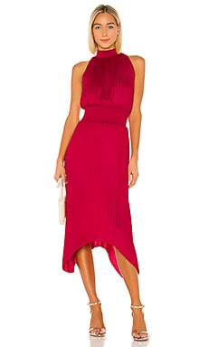 Halter Pleated Dress 1. STATE $139