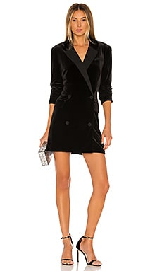 Ruched Velvet Blazer Dress 1. STATE $149