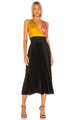 Colorblock Pleated Dress 1. STATE $90