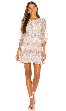 Tiered Ruffle Lyrical Paisley Dress 1. STATE $42 (FINAL SALE)
