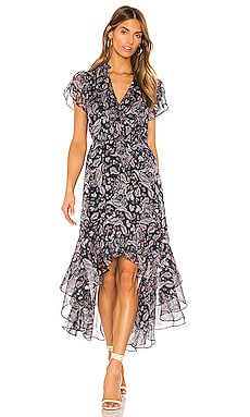 Flutter Sleeve Lyrical Paisley Dress 1. STATE $74