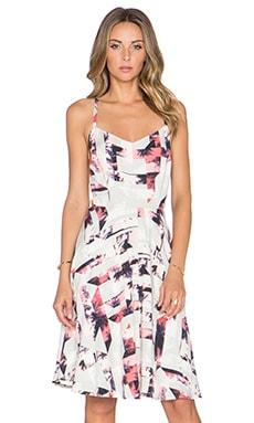 1. STATE Miami Spectrum Cross Back Dress in Coral Sands