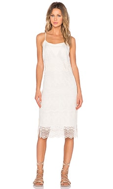 1. STATE Embroidered Slip Dress in Sugarcane