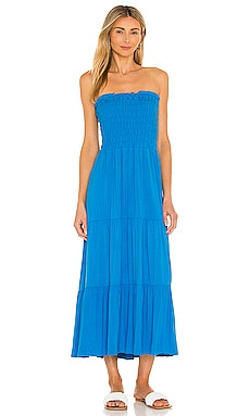 Smocked Strapless Midi Dress 1. STATE $89
