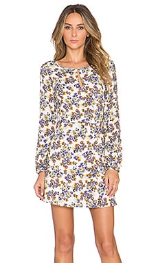 Key Hole Long Sleeve Dress in Lilac Sugar
