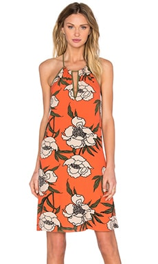 Halter Trapeze Dress in Cactus Coral