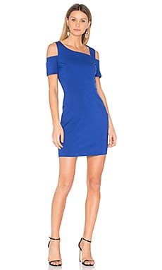 Cold Shoulder Bodycon Dress in Blue Dahlia