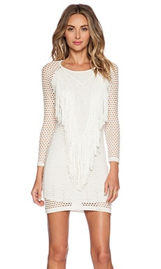 1. STATE Mesh Overlay Dress in Cloud