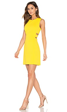 Cut Out A Line Dress in Yellow Zest