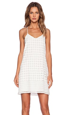 1. STATE Circle Lace Shift Dress in Cloud