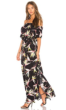 Off Shoulder Maxi Dress With Drawstring Waist