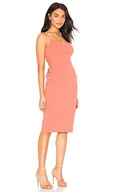 Lace Up Slip Midi Dress