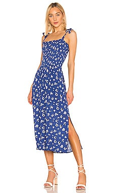 Tie Shoulder Smocked Maxi Dress 1. STATE $129 NEW ARRIVAL