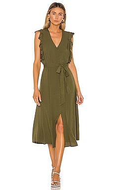 Button Front Crosshatch Midi Dress 1. STATE $80
