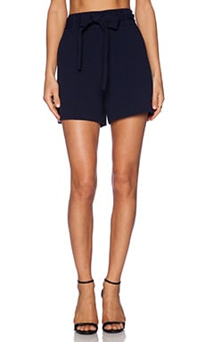 1. STATE Tie Waist Short in Navy Stone