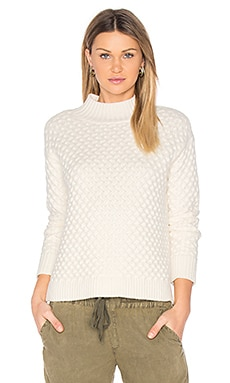 Honeycomb Turtleneck Sweater in Chalk