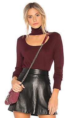 Scoop Front Turtleneck Sweater