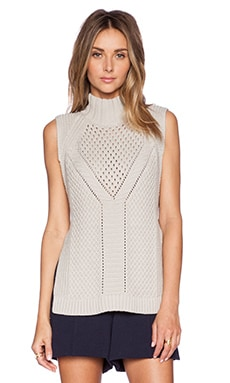 1. STATE Mock Neck Sweater Vest in Pebble Beach