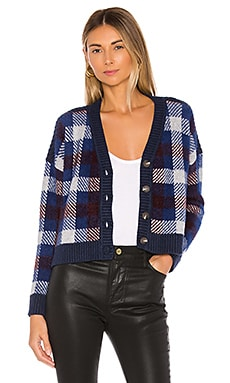 Button Front Plaid Eyelash Cropped Cardigan 1. STATE $119
