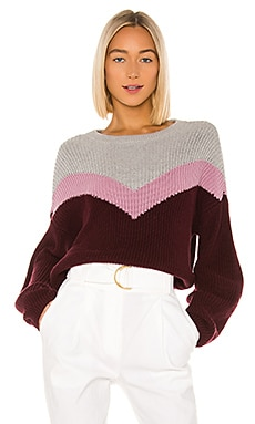Chevron Front Crewneck Sweater 1. STATE $89 NEW ARRIVAL