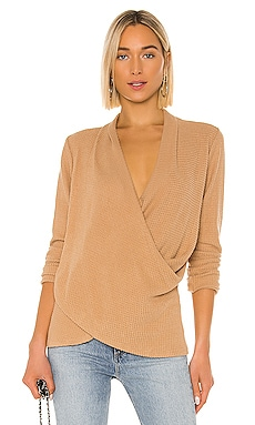 Cross Front Brushed Waffle Sweater 1. STATE $59