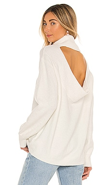 Stretch Cotton Open Back Sweater 1. STATE $89