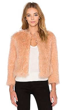 1. STATE Faux Fur Jacket in Amberwood