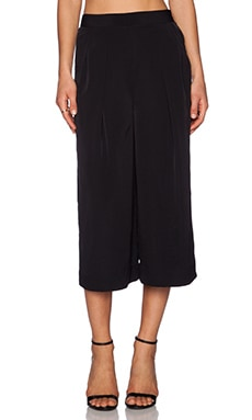 1. STATE Pleated Culottes in Rich Black