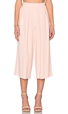 1. STATE Crepe Culottes in White Peach