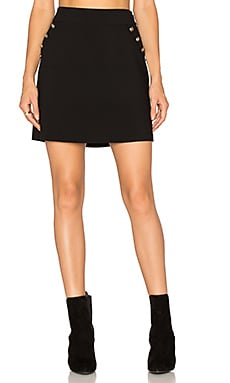 A Line Button Skirt en Rich Black
