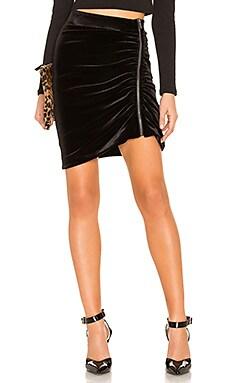 Zip Velvet Mini Skirt 1. STATE $69