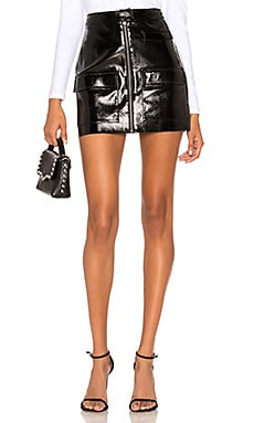 Crackle Patent Leather Skirt 1. STATE $99