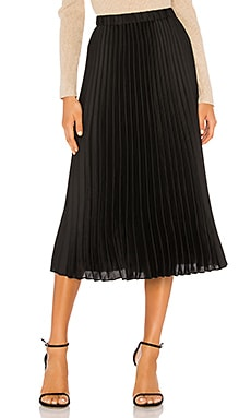 Charmeuse Pleated Midi Skirt 1. STATE $99