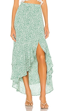 Folk Floral Hi Low Skirt 1. STATE $89