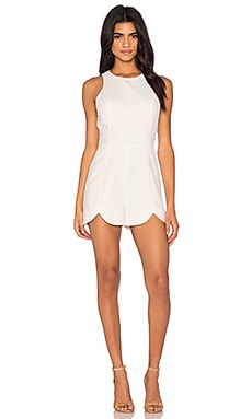 Scallop Edge Romper in Cloud