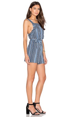 H Strap Romper in Dutch Blue