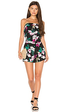 Strapless Romper With Keyhole