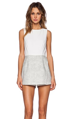 1. STATE Skirt Romper in New Ivory