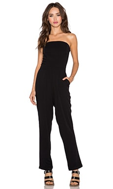Strapless Slim Jumpsuit in Rich Black