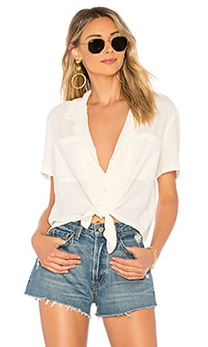 SS Tie Front Button Down Blouse 1. STATE $69