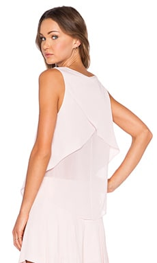 V Neck Sleeveless Blouse en Rose